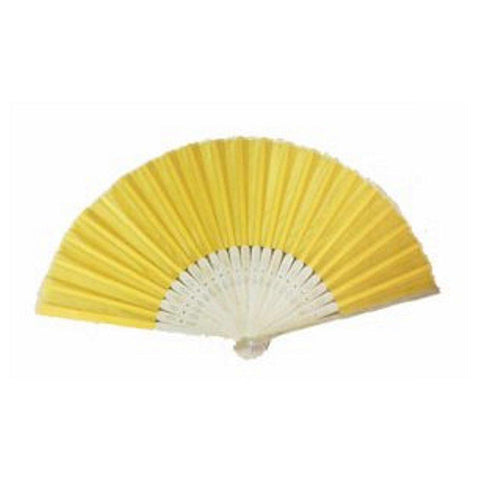 Silk Fan - Yellow (set of 10) - Sophie's Favors and Gifts