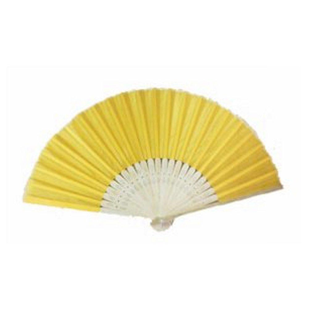 Silk Fan - Yellow (set of 20), summer party favor, yellow fan favor, asian wedding favor, asian party decorations, yellow fans, Practical Favors