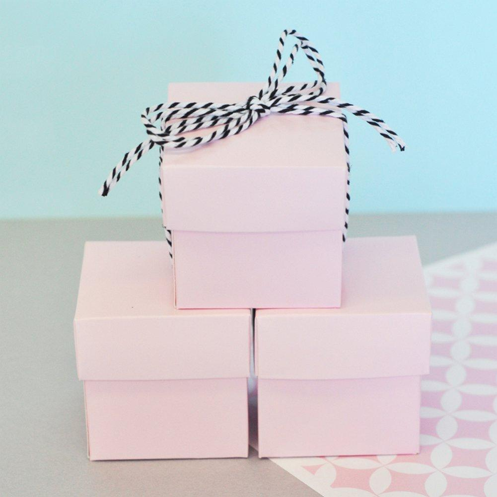 Mini Cube Boxes - Pink (Set of 48) - Sophie's Favors and Gifts