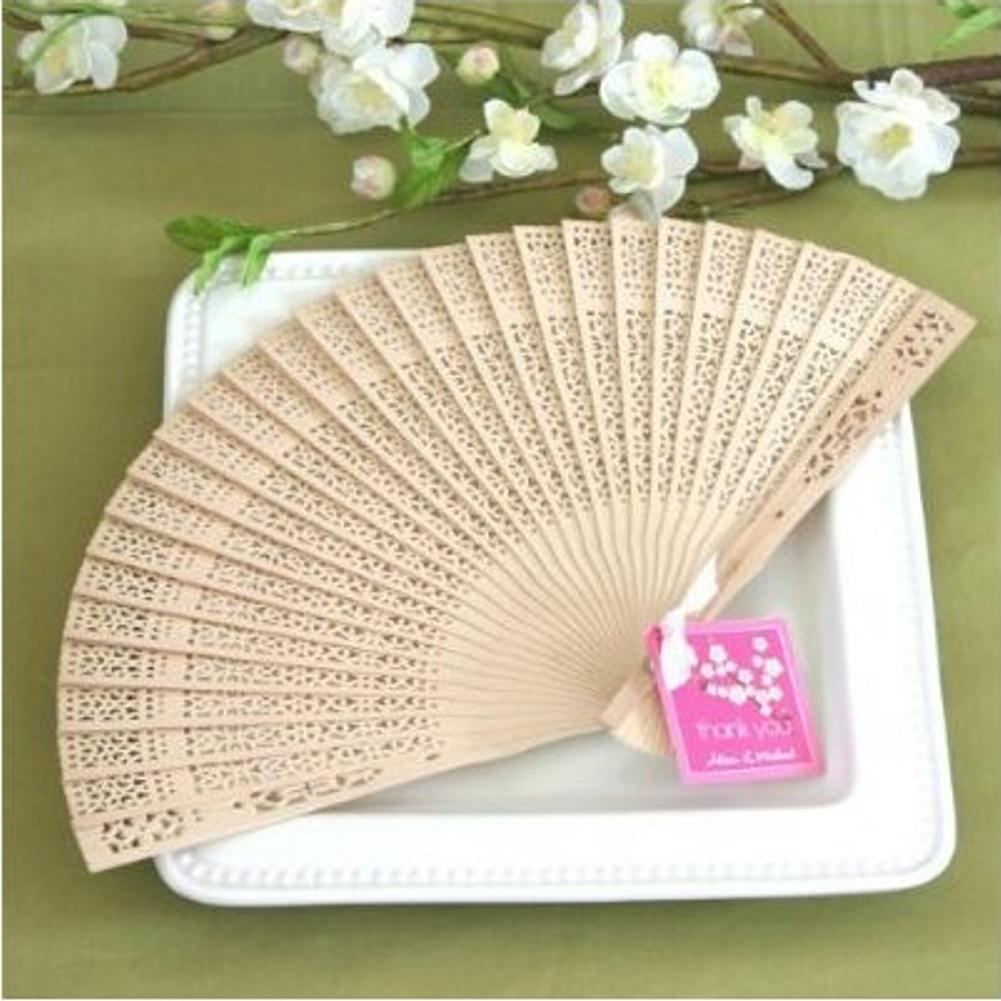 Sandalwood Fan (set of 5) - Sophie's Favors and Gifts