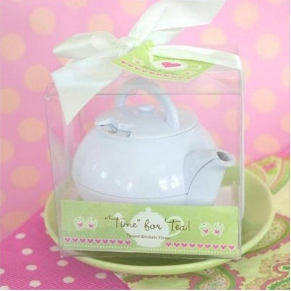 Time for Tea Teapot Timer (pack of 10) - Sophie's Favors and Gifts