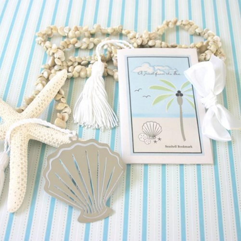 A Jewel from the Sea Seashell Bookmark, nautical theme, beach theme, sea shell favor, beach party favor, Practical Favors