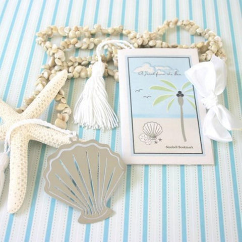 A Jewel From the Sea Seashell Bookmark (pack of 20), nautical theme, beach theme, seashell favor, sea shell favor, beach party favor, Practical Favors