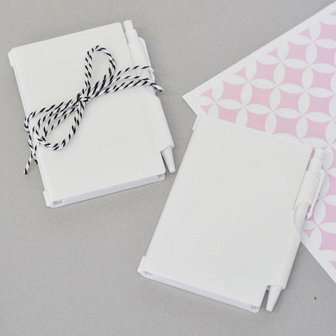 Blank Notebook Favors (Set of 10) - Sophie's Favors and Gifts