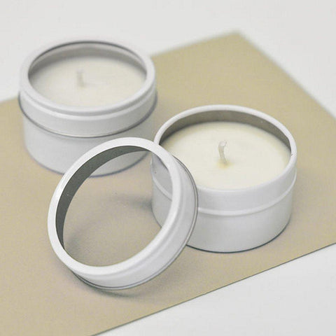 Blank Round Candle Tins (Set of 10) - Sophie's Favors and Gifts