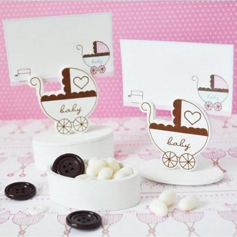 Baby Carriage Place Card Favor Boxes with Designer Place Cards (set of 84) - Sophie's Favors and Gifts