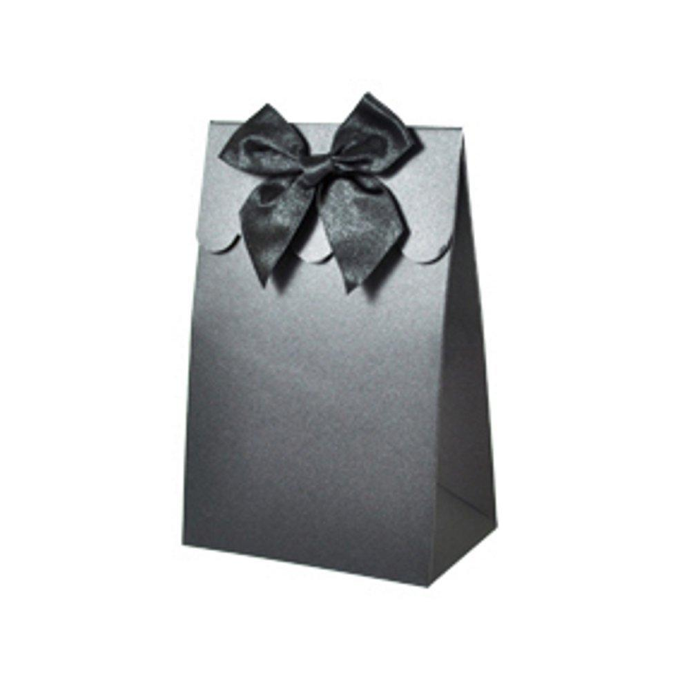 Sweet Shoppe Candy Boxes - SPARKLE BLACK (Set of 48) - Sophie's Favors and Gifts