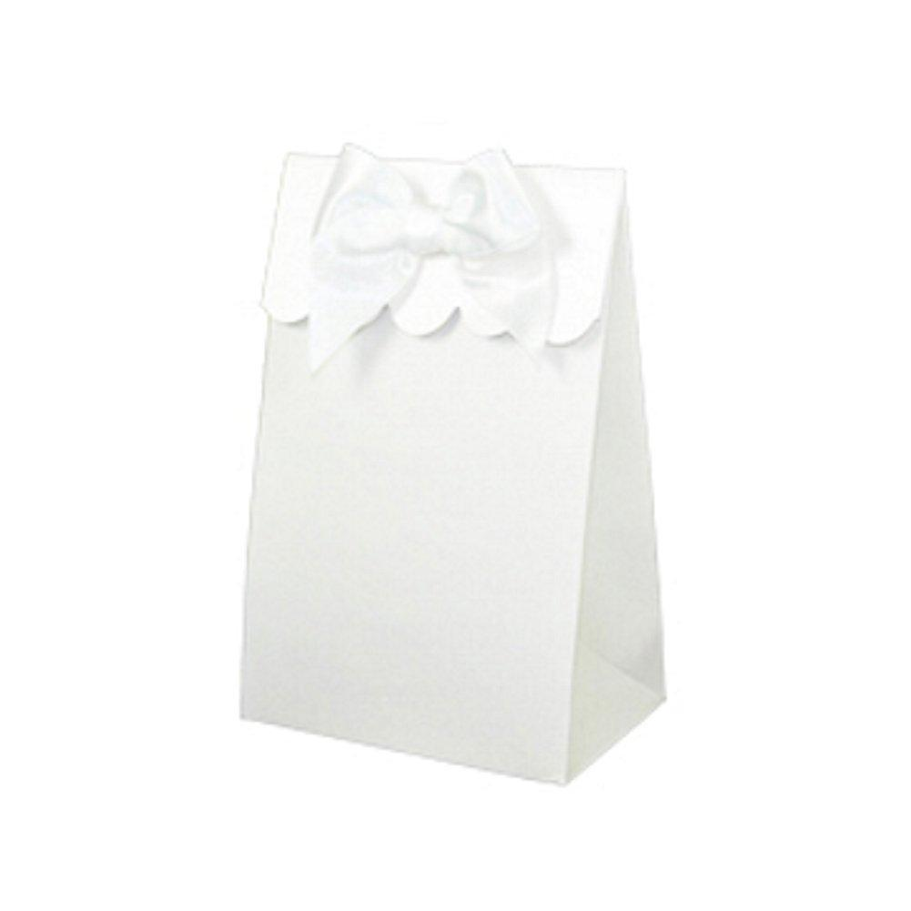 Sweet Shoppe Candy Boxes - SPARKLE WHITE (Set of 48) - Sophie's Favors and Gifts