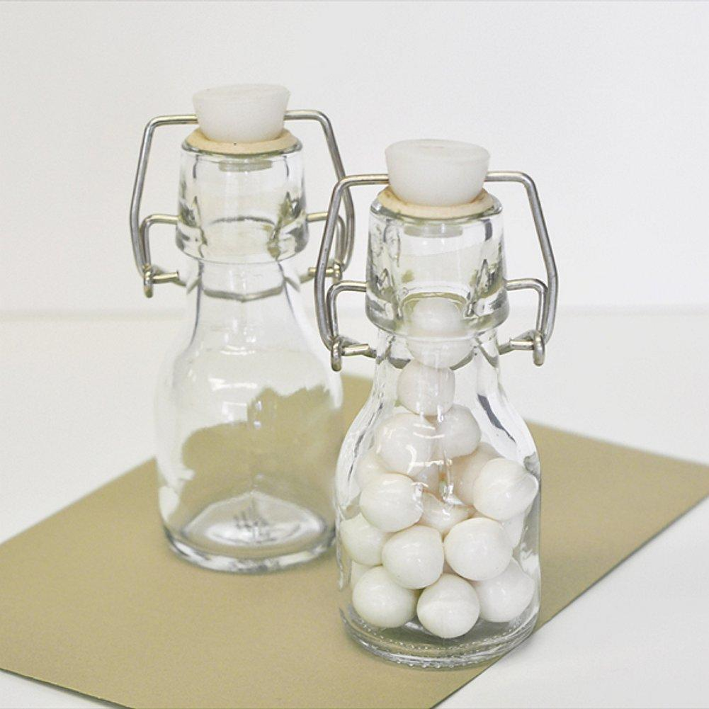 Blank Mini Glass Bottles (Set of 40) - Sophie's Favors and Gifts