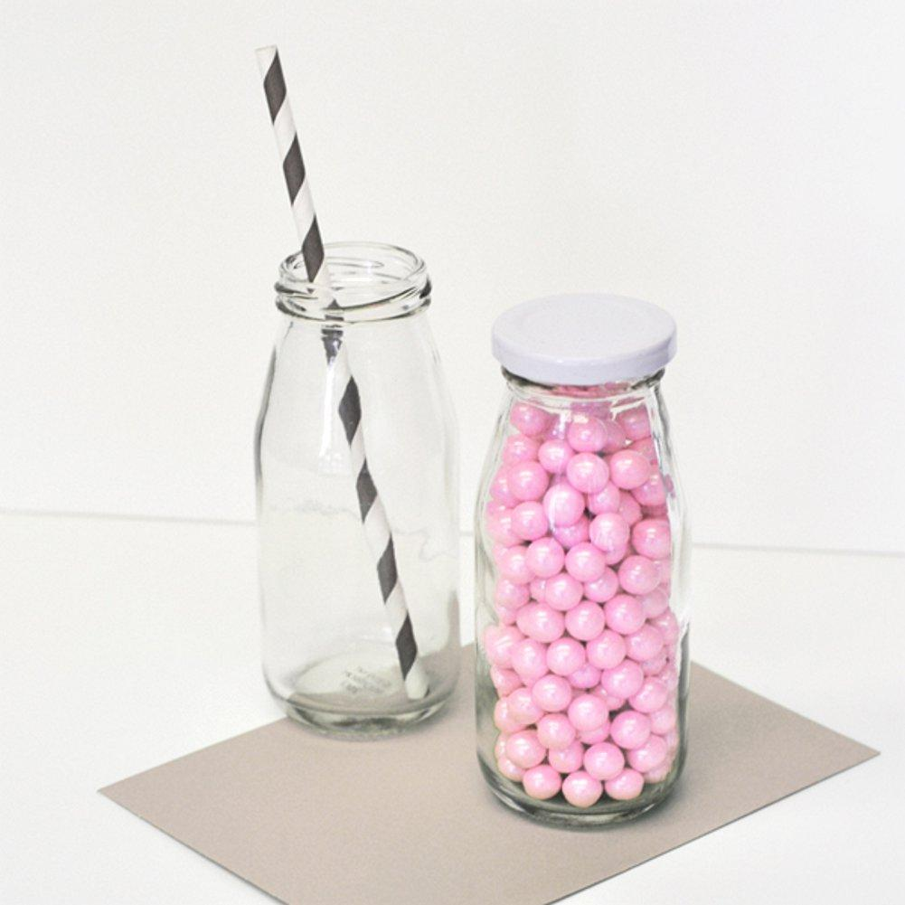 Blank Glass Milk Bottles (Set of 10) - Sophie's Favors and Gifts