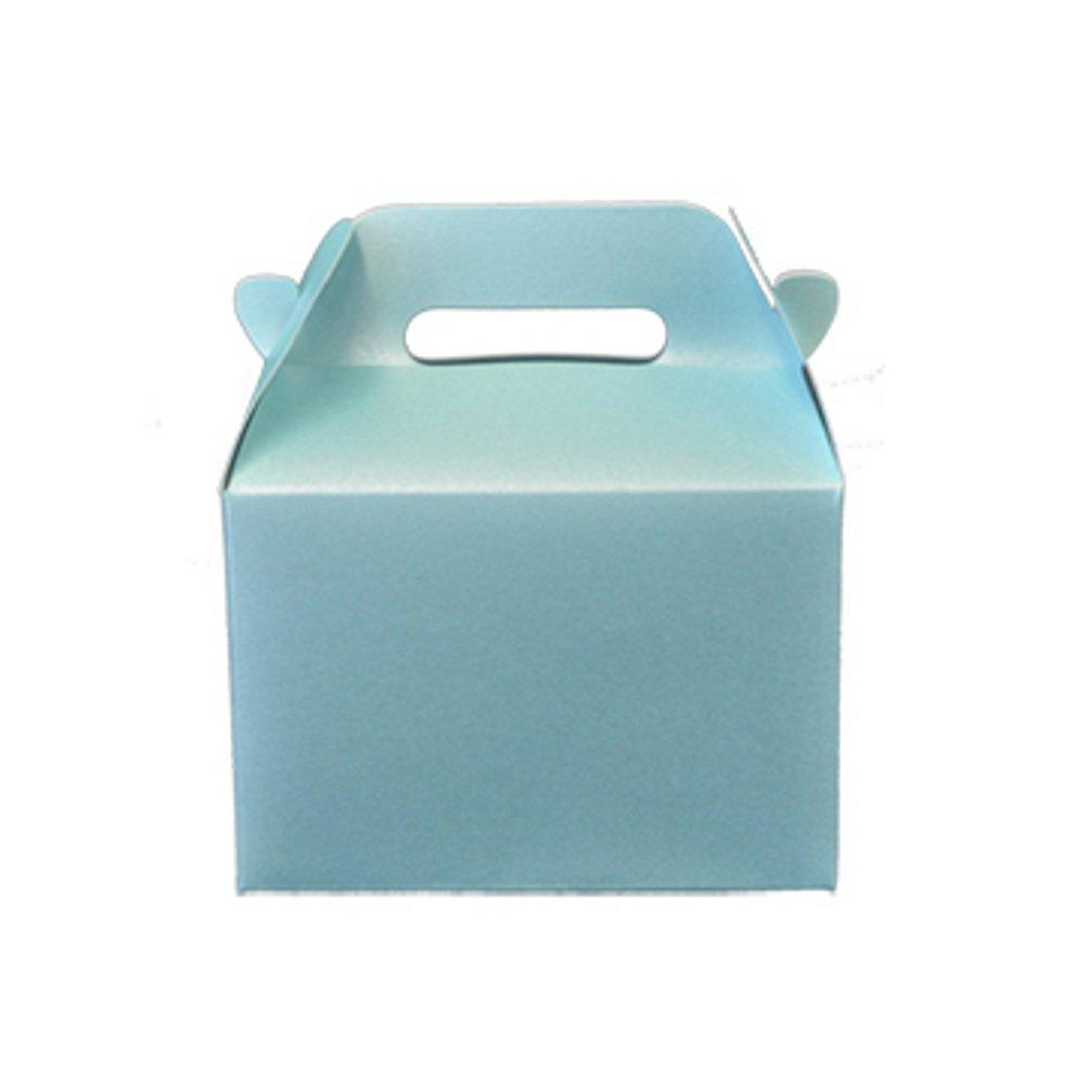 Mini Gable Boxes - SPARKLE BLUE (Set of 48) - Sophie's Favors and Gifts