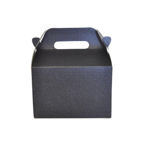 Mini Gable Boxes - SPARKLE BLACK (Set of 48) - Sophie's Favors and Gifts