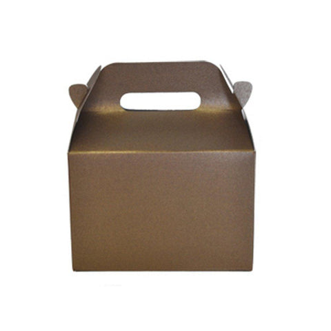 Mini Gable Boxes - SPARKLE BROWN (Set of 96) - Sophie's Favors and Gifts