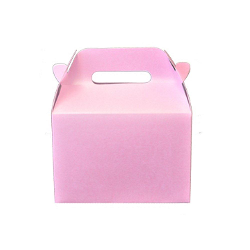 Mini Gable Boxes - SPARKLE PINK (Set of 24) - Sophie's Favors and Gifts