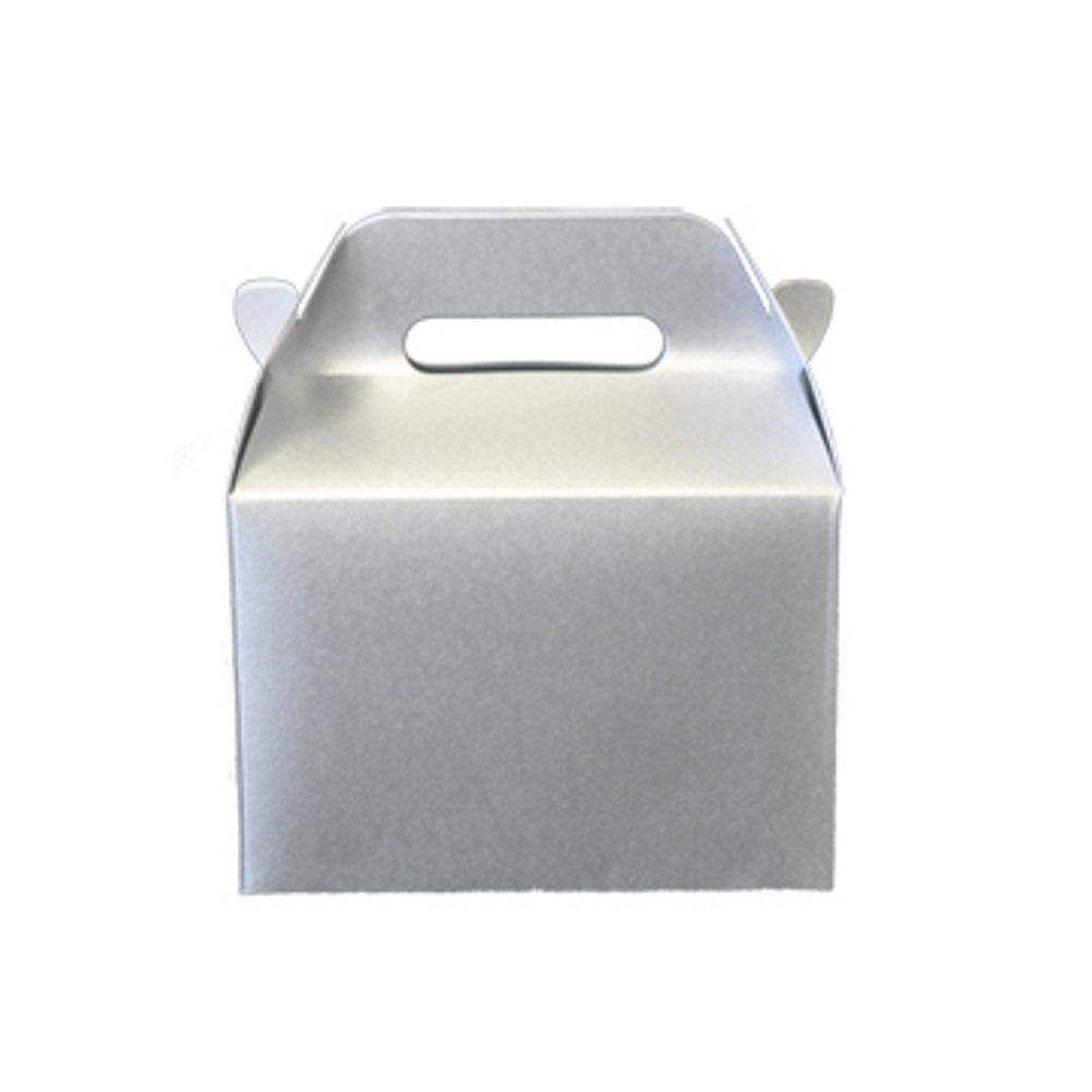 Mini Gable Boxes - SPARKLE SILVER (Set of 24) - Sophie's Favors and Gifts
