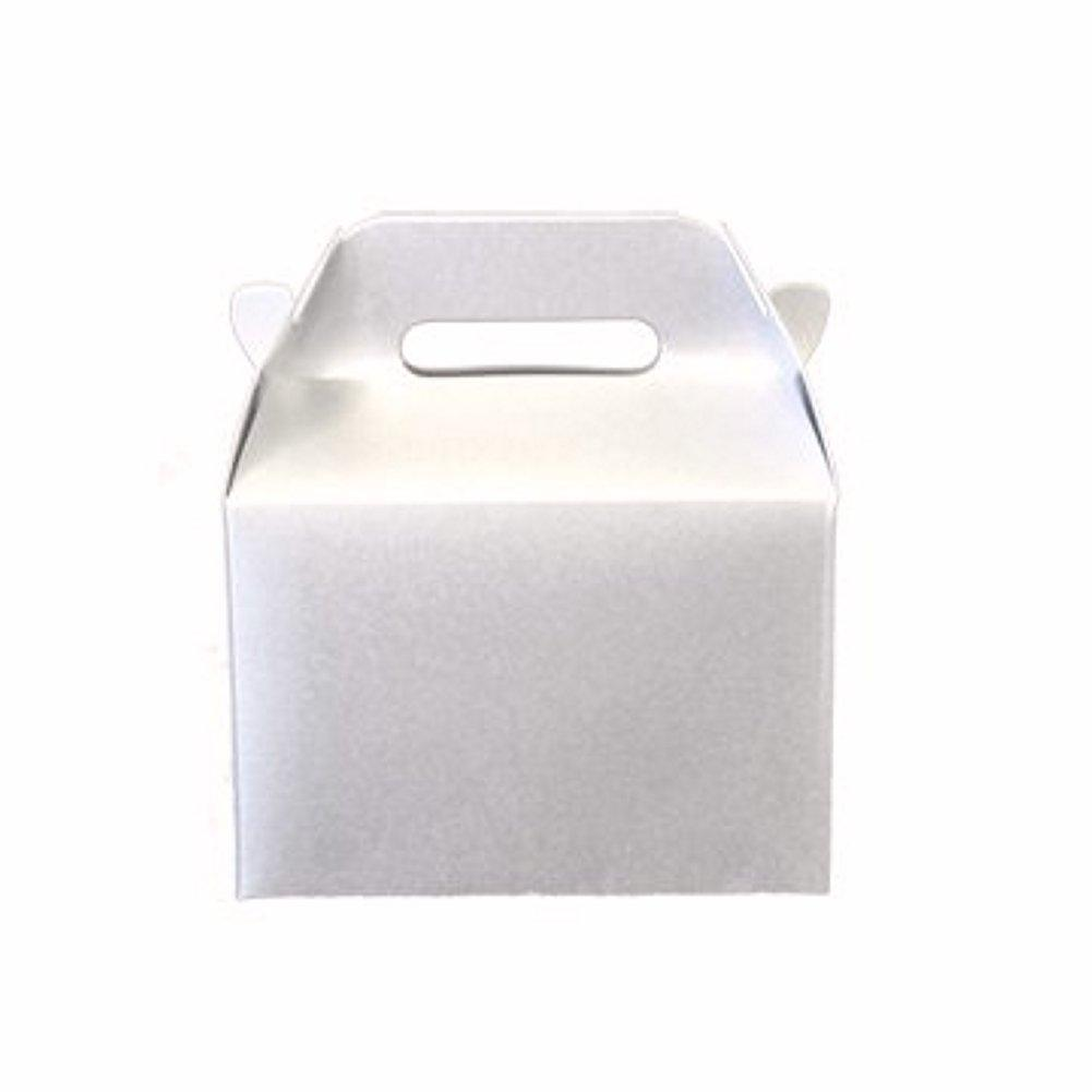 Mini Gable Boxes - SPARKLE WHITE (Set of 48) - Sophie's Favors and Gifts