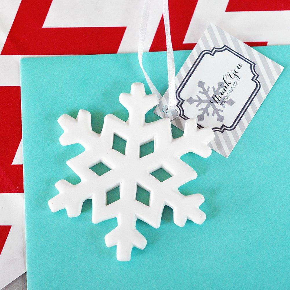 Porcelain Snowflake Ornament (set of 40) - Sophie's Favors and Gifts