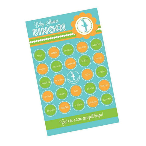She's Going To Pop Blue Baby Shower Bingo (Pack of 16 cards) - Sophie's Favors and Gifts