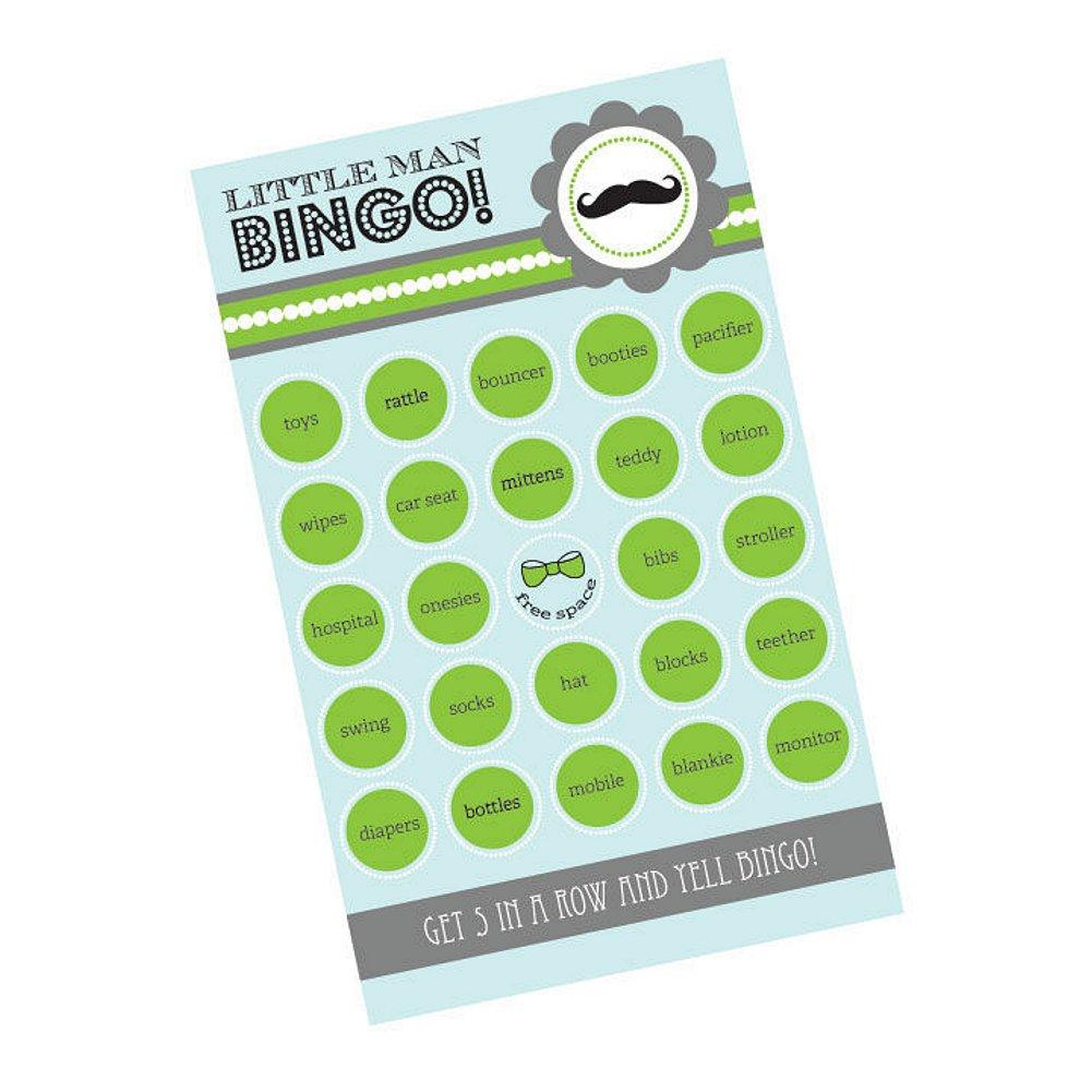 Little Man Party Bingo (Pack of 16 cards) - Sophie's Favors and Gifts