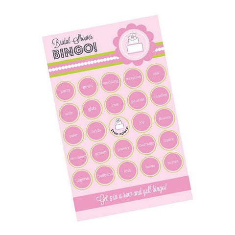 Pink Cake Bingo (Pack of 16 Cards), bridal shower activity, bridal shower game, pink bridal shower, activity for bridal shower, Games