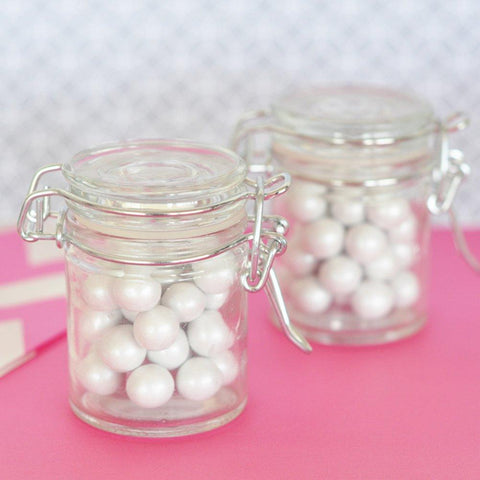Blank Glass Jar with Swing Top Lid - MINI (Set of 40) - Sophie's Favors and Gifts