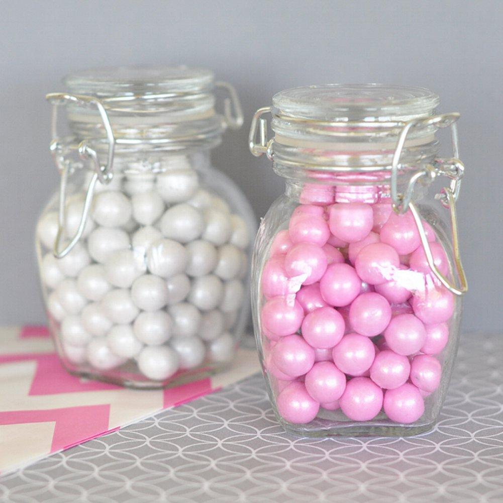 Blank Glass Jar with Swing Top Lid - SMALL (Set of 50) - Sophie's Favors and Gifts