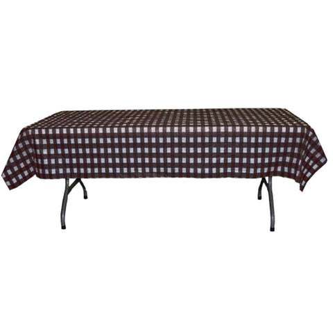 Black and White Checkerboard Plastic Disposable Table Cover (Rectangluar - 54in. W x 108in. L) - Sophie's Favors and Gifts