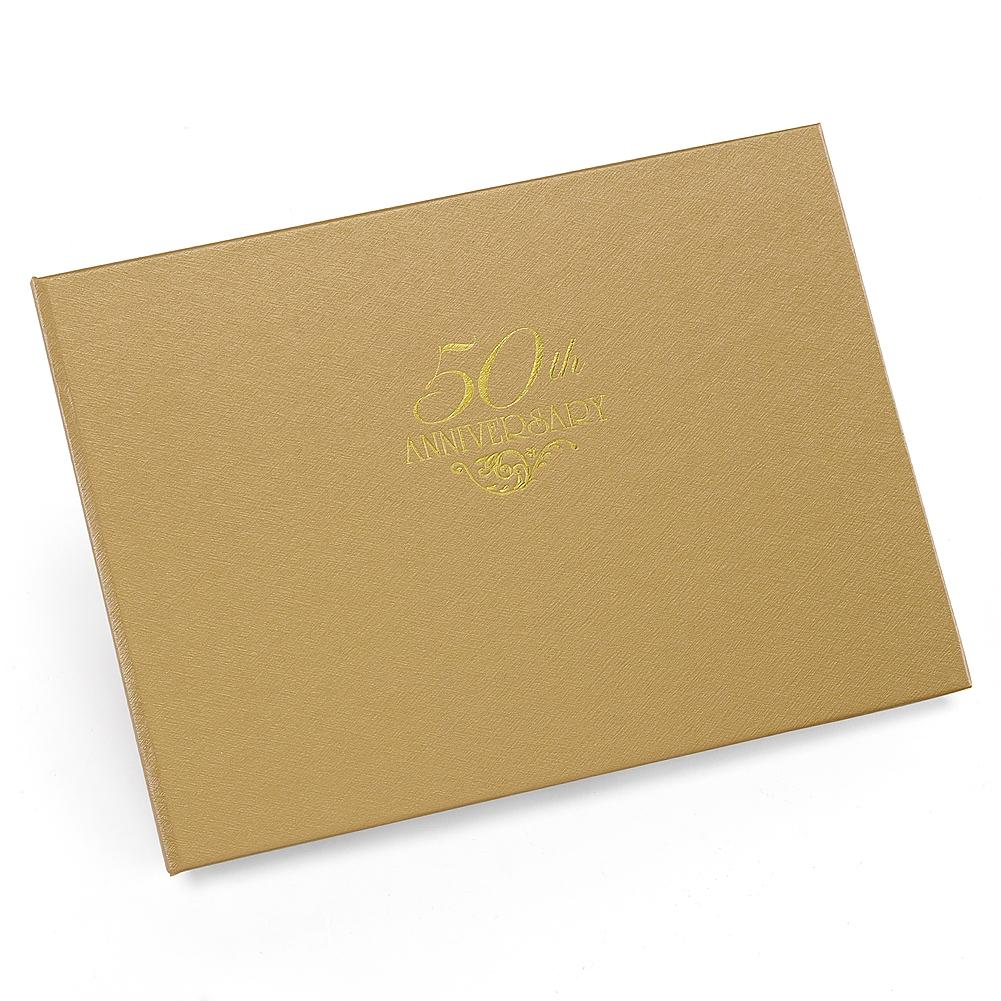 Gold 50th Anniversary Guest Book - Sophie's Favors and Gifts