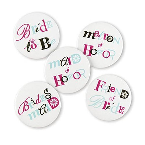 Bachelorette Buttons - Set of 12 Buttons, bachelorette party, bachelorette buttons, bachelorette party supplies, bachelorette fun ideas, Bridesmaid Gifts