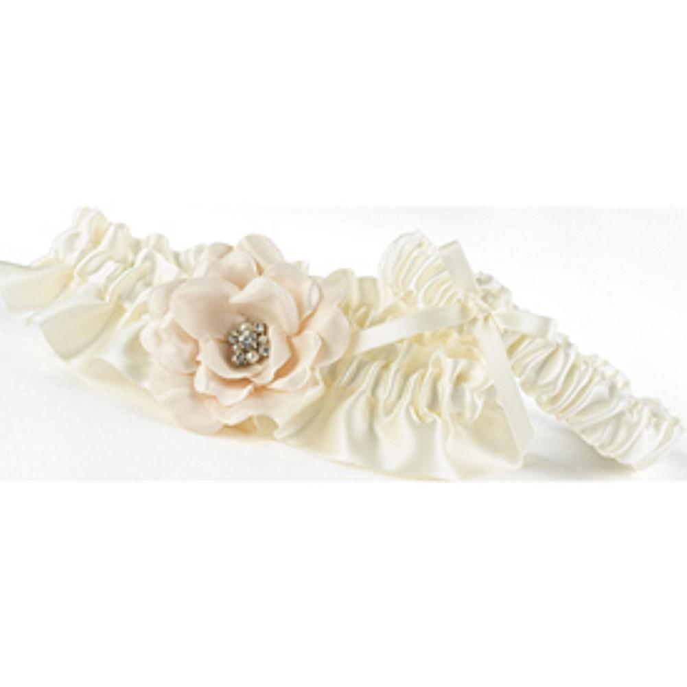 Love Blooms Garter Set, wedding garter, bridal garter, ivory garter set, love is in bloom garter, Wedding & Prom Garters