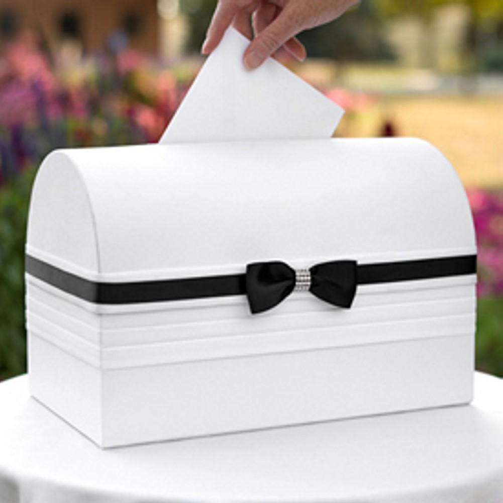 Elegant Black and White Card Box - Sophie's Favors and Gifts