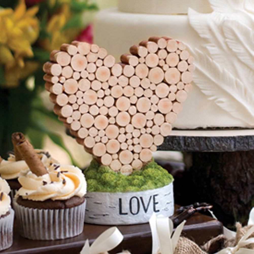 Rustic Heart Table Decoration - Sophie's Favors and Gifts