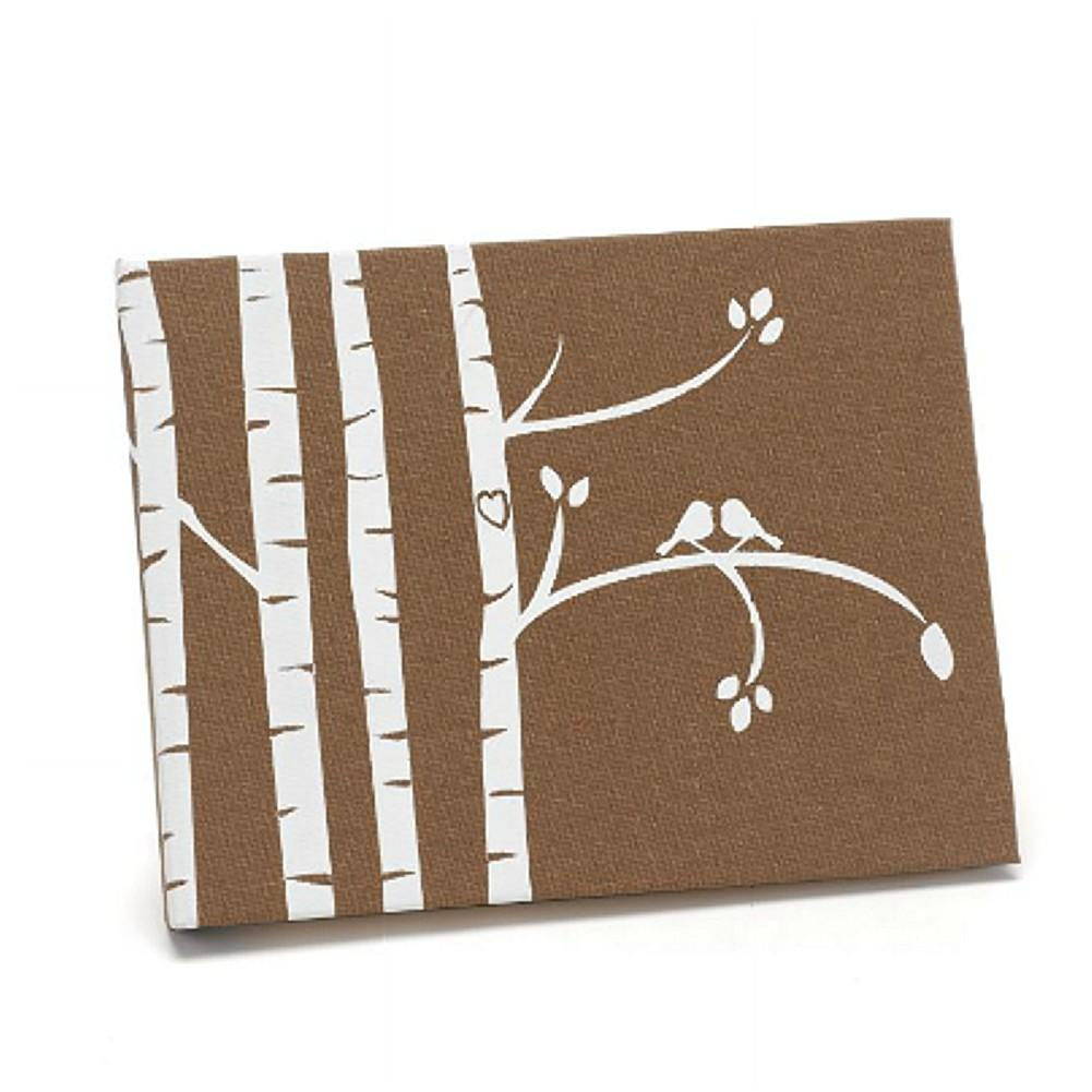 Taupe Guest Book with Birch Tree Design, country wedding ideas, wedding guest books, rustic wedding ideas, guestbooks, Guest Books & Albums