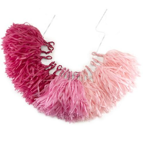 Pink Ombre Tassle Garland - Sophie's Favors and Gifts