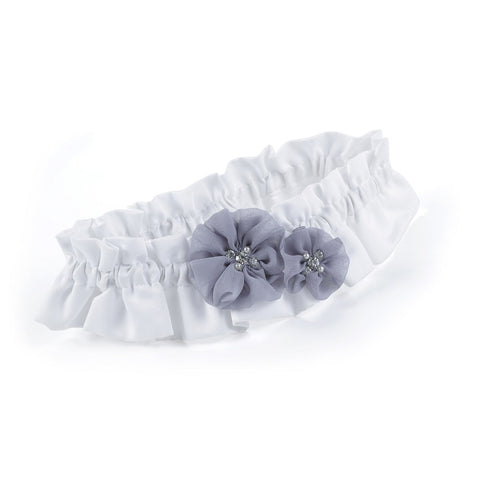 Glamorous Grey Garter, wedding garter, bridal garter, gray garter, gray wedding accessories, Wedding & Prom Garters