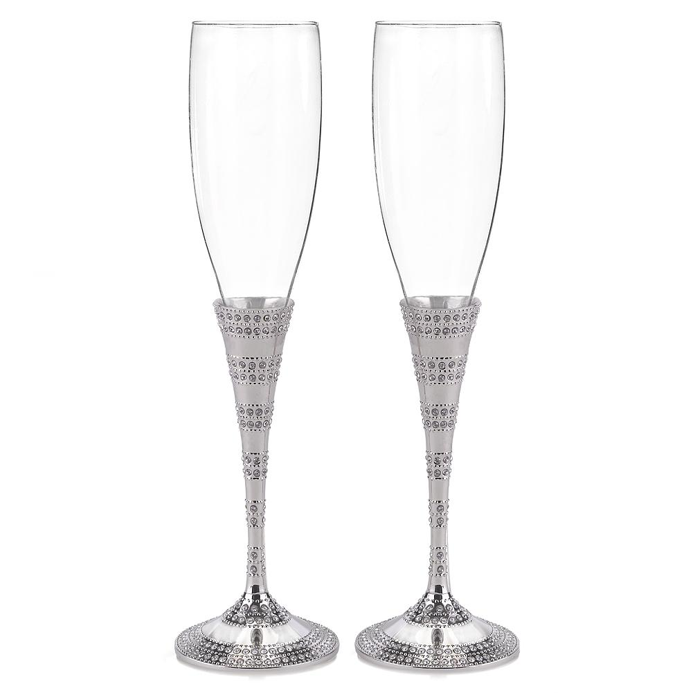 Enchanting Crystal Flutes, toasting glasses with rhinestones, bridal toasting glasses, crystal flutes, fairytale wedding flutes, Flutes and Glassware
