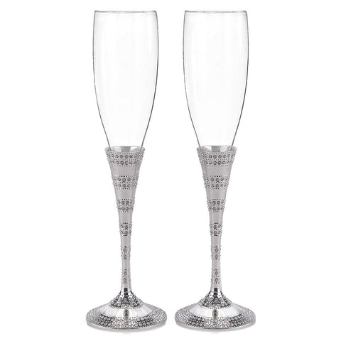 Enchanting Crystal Flutes - Sophie's Favors and Gifts