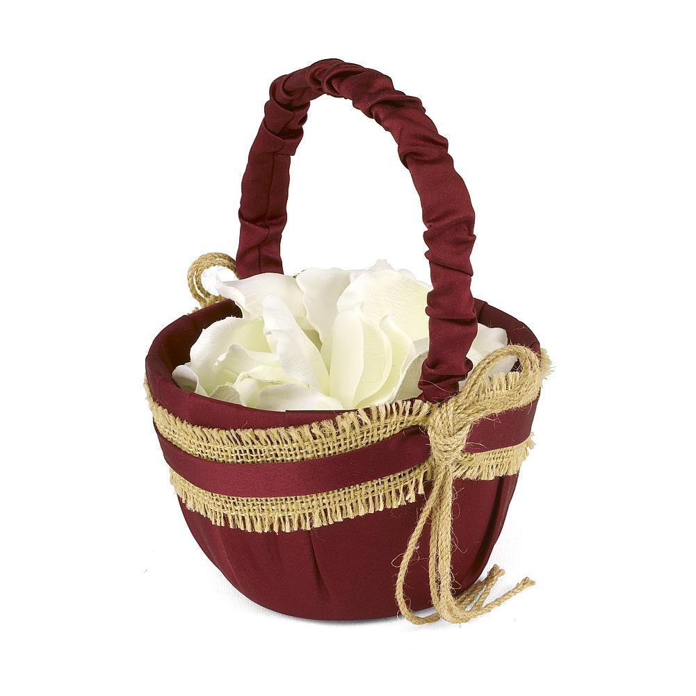 Country Love Flower Girl Basket