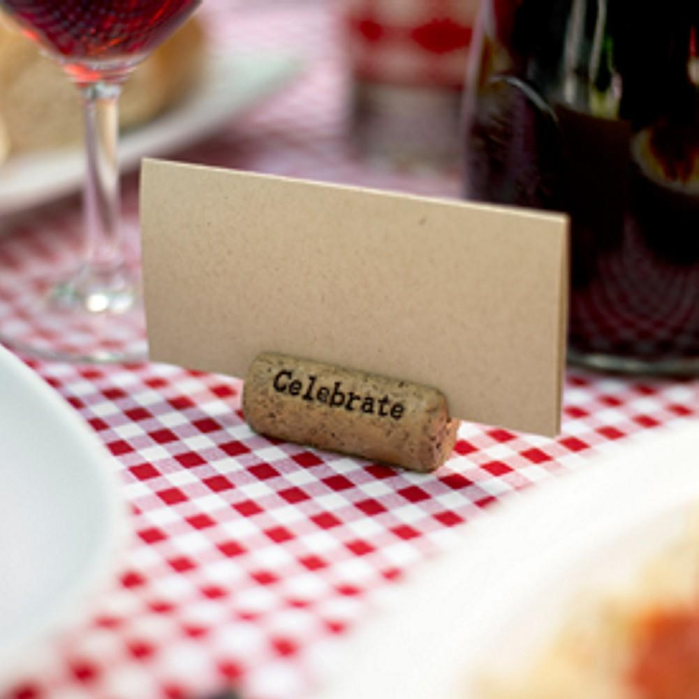 Cork Card Holder - Celebrate Design, wedding reception decorations, wedding placecard holders, table number holders, place card holders, Table Decorations & Centerpieces