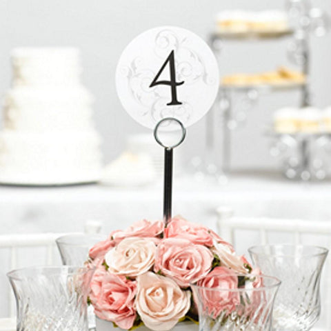 Filigree Table Number Cards - 1 to 40 - Sophie's Favors and Gifts
