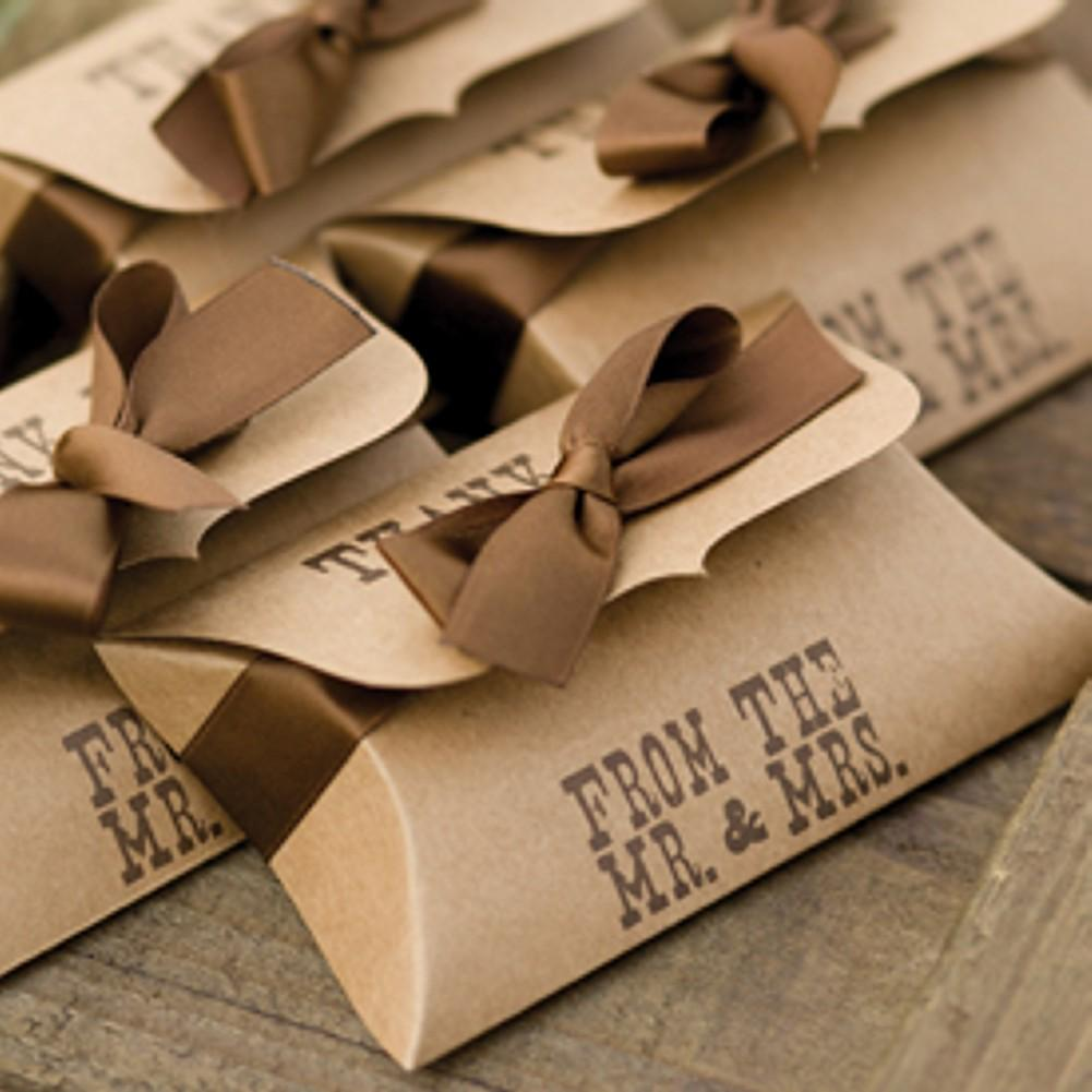 Western Style Kraft Pillow Boxes - Sophie's Favors and Gifts