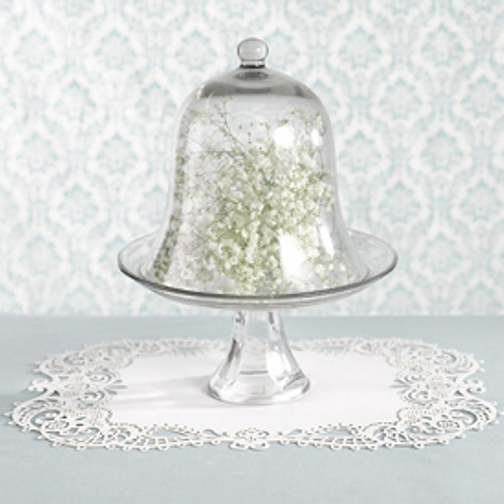 White Shimmer Laser Placemats - Sophie's Favors and Gifts