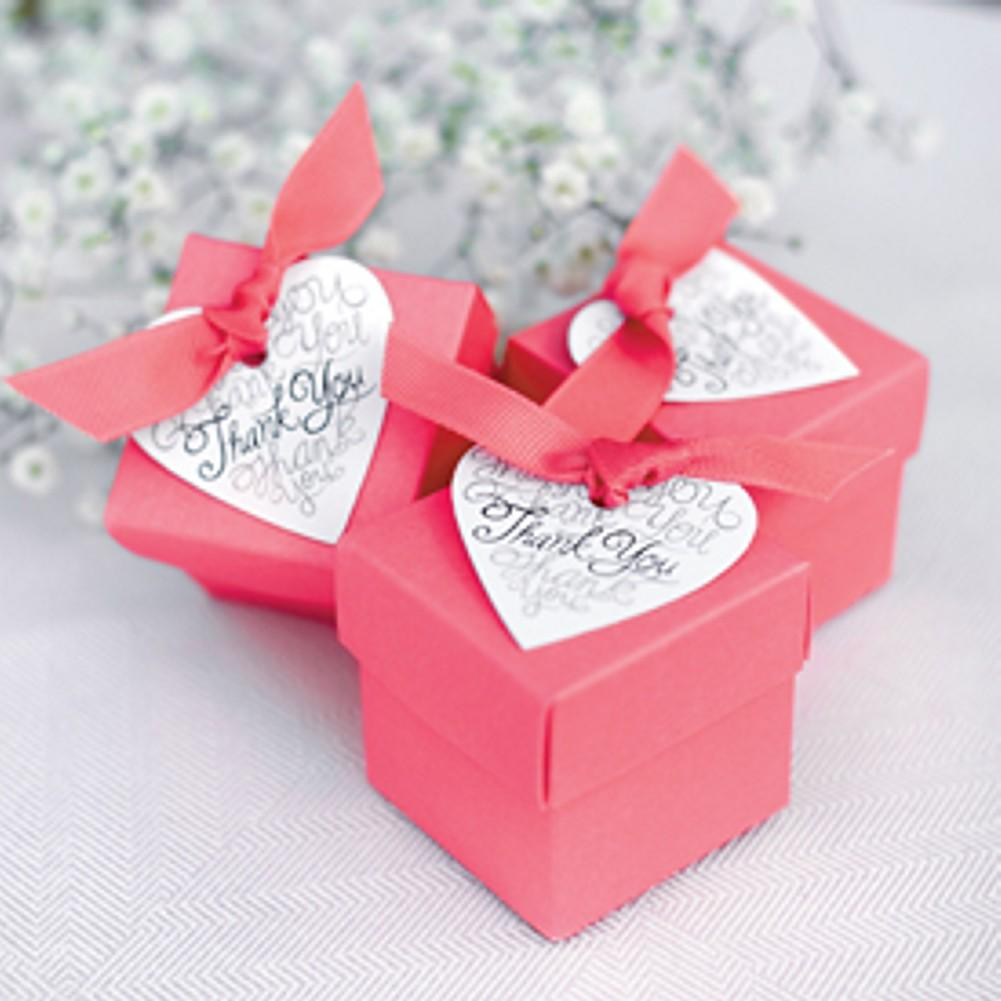 White Heart Shaped Favor Tags - Sophie's Favors and Gifts