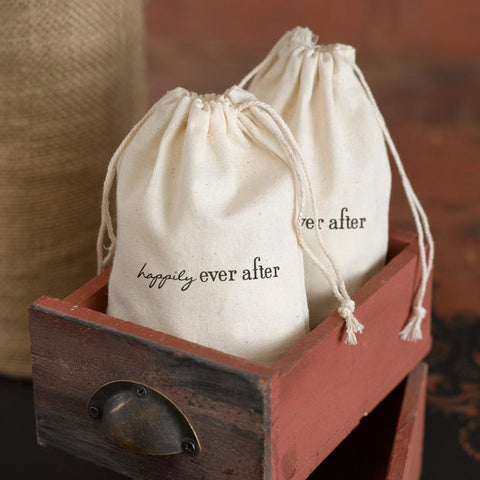 Cotton Favor Bags - Happily Ever After - Sophie's Favors and Gifts
