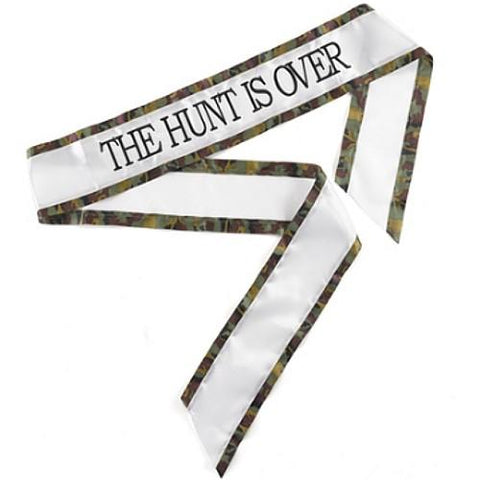The Hunt Is Over - Brown Camouflage Sash - Sophie's Favors and Gifts