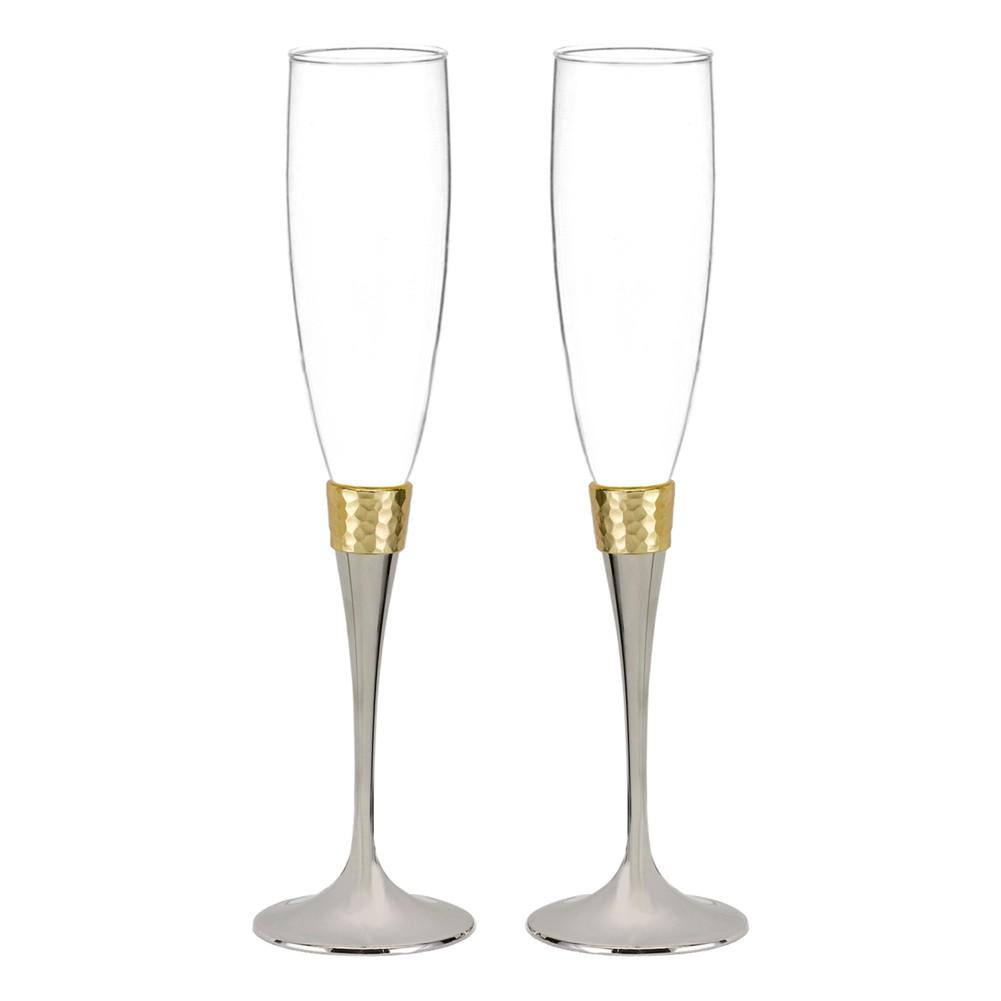 Hammered Gold Flutes - Sophie's Favors and Gifts