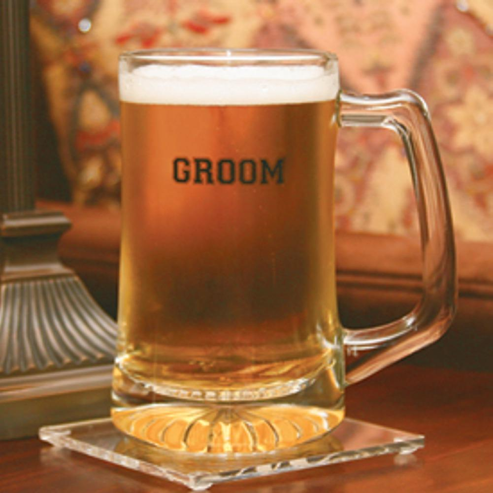 Groom Glass Beer Mug - Sophie's Favors and Gifts