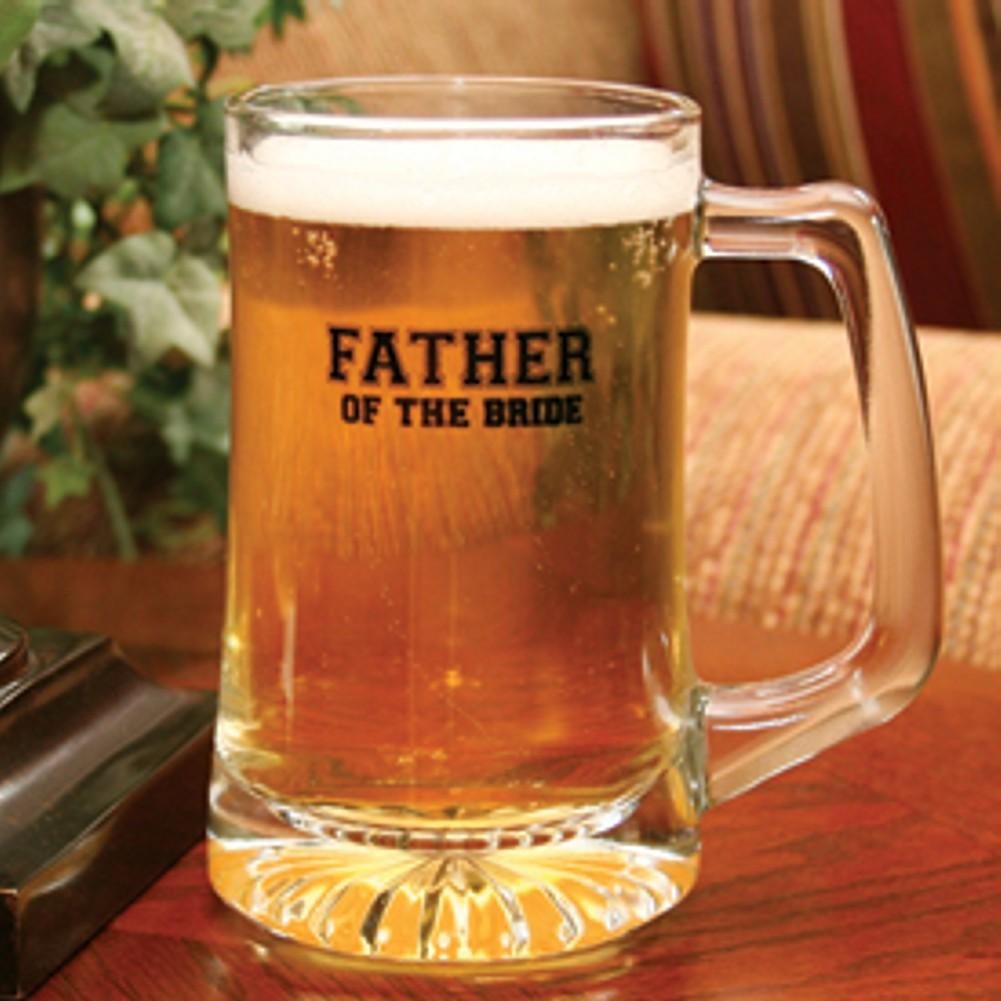Father of the Bride Glass Beer Mug - Sophie's Favors and Gifts