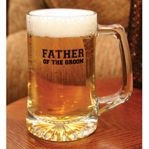 Father of the Groom Glass Mug - Sophie's Favors and Gifts