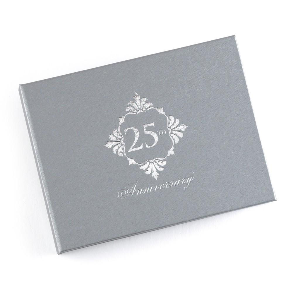 Silver Anniversary Guest Book - Sophie's Favors and Gifts